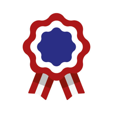 Cockade, rosette with ribbon, vector illustration Vectores