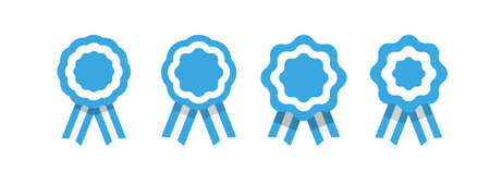 Argentina escarapela, roseta con cinta, ilustración vectorial Ilustración de vector