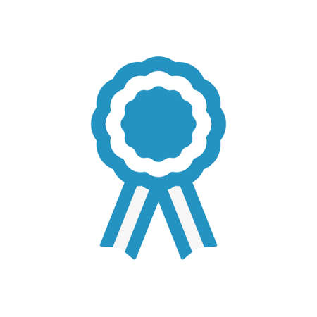 Argentina cockade, rosette with ribbon, vector illustration Vectores