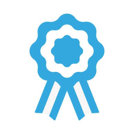 Argentina cockade, rosette with ribbon, vector illustration