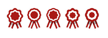 Insignia con cintas, roseta, bandera peruana, ilustración vectorial Ilustración de vector