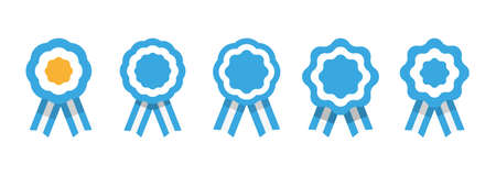 Argentina cockade, rosette with ribbon, vector illustration Illustration