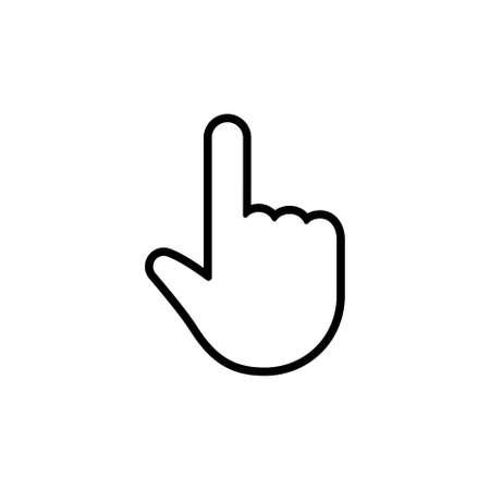 Click hand linear vector icon