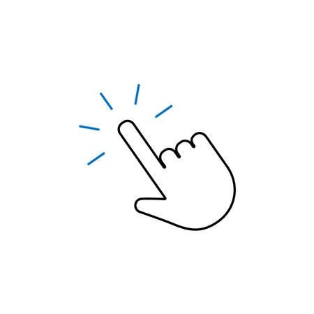 Click hand icon, vector pointer symbol