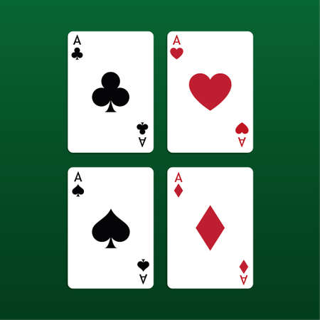 Ace poker cards set