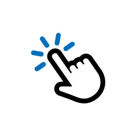 Hand clicking icon