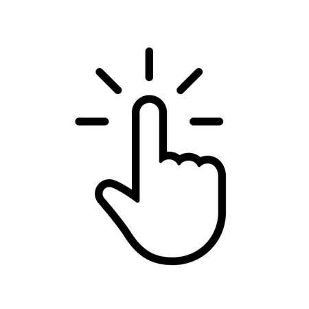 Fare clic sull'icona della mano Vettoriali