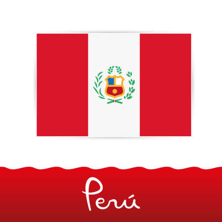 Peruvian flag, peru Illustration