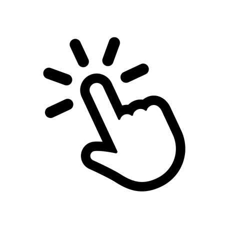 Hand clicking icon. Pointer mouse finger 向量圖像
