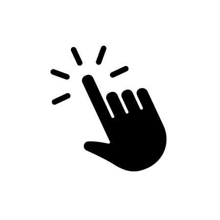 Hand clicking icon. Pointer mouse finger.