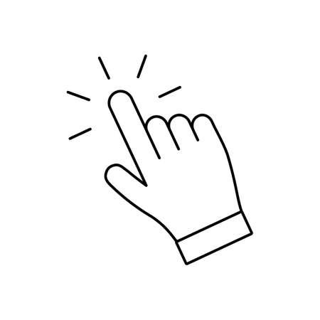 Click hand pointer icon, finger clicking vector Illustration