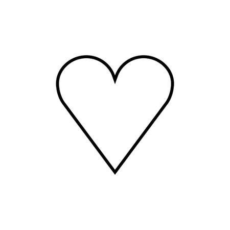 Heart icon, love symbol