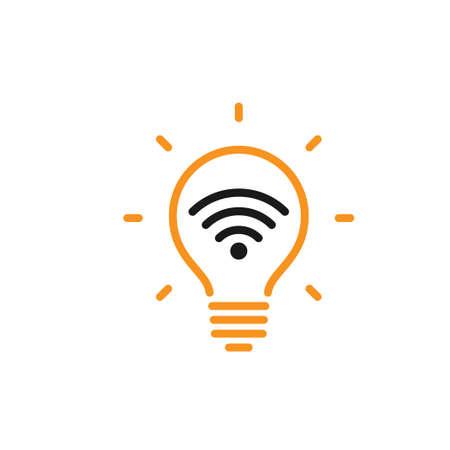 Light Fidelity, wireless communication technology by led, li-fi vector icon
