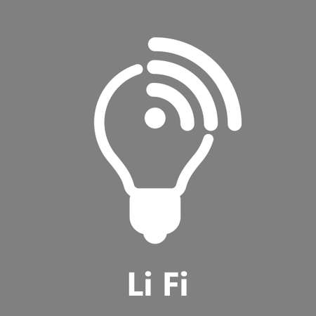 Light Fidelity, wireless communication technology by led, li-fi vector icon