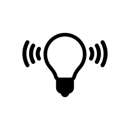 Li fi vector icon, light fidelity wireless connection symbol, li-fi internet
