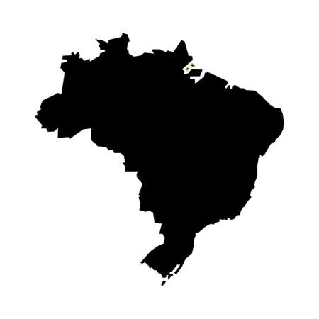 Map of Brazil flat vector
