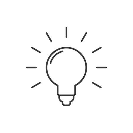 Idea symbol, light bulb vector icon