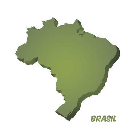 Map of Brazil, brazilian national symbols