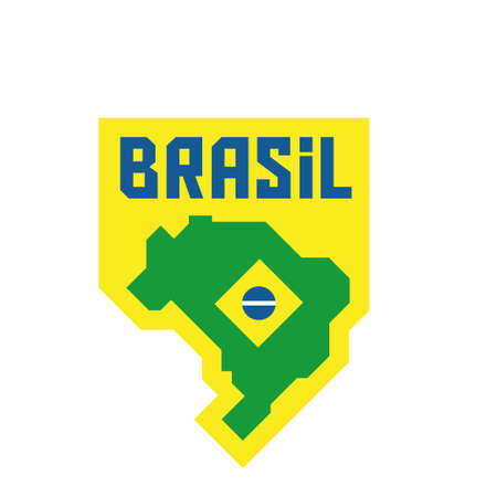 Brazilian map with flag Banque d'images - 107532033