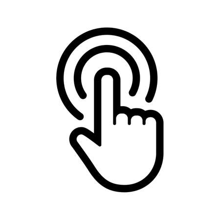 Clicking hand vector icon