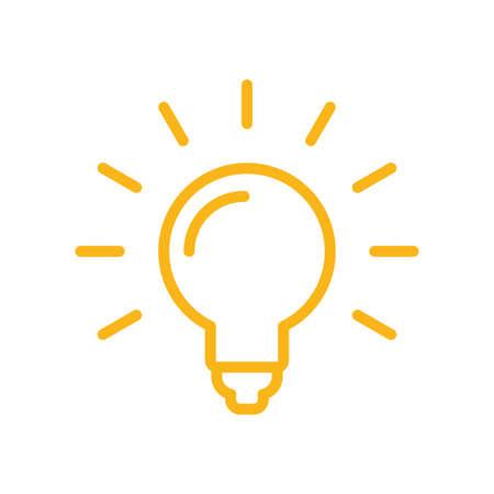 Light bulb pictogram, symbol of idea, brilliant solution, vector icon.