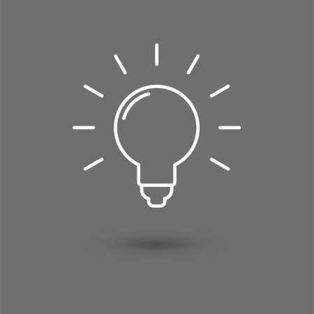 Idea vector icon, light bulb pictogram