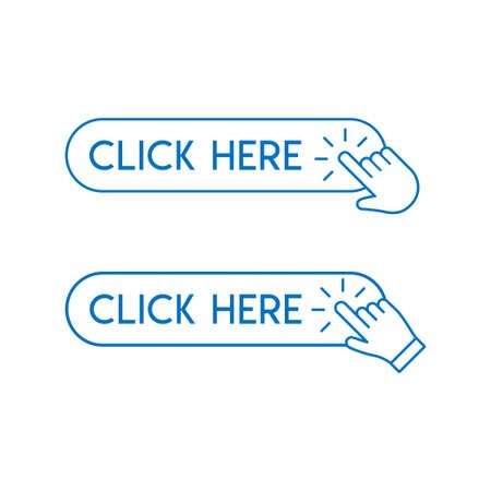 Fare clic sul pulsante impostato con l'icona di clic della mano