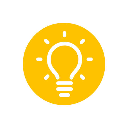 Light bulb icon, symbol of idea
