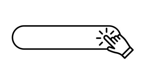 Click button with hand icon Illustration