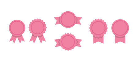 Badge ribbons, vector icon set