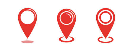 Location icon, map pin vector set