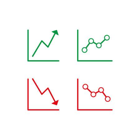 Stock market statistics report icon.