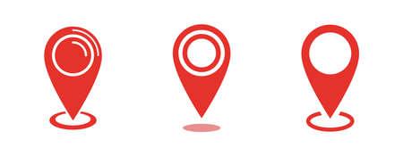 Location map icon, gps pointer mark
