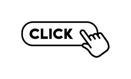 Click here button with hand icon