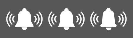 Bell icon vector set, alarm symbol