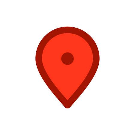 Locate mark icon, map pin pointer vector symbol Archivio Fotografico - 126545831