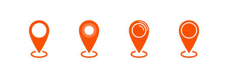 Map pointer icon, location pin vector symbol Archivio Fotografico - 126545835