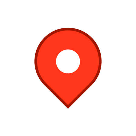 Location map icon, gps pointer mark Archivio Fotografico - 126545850