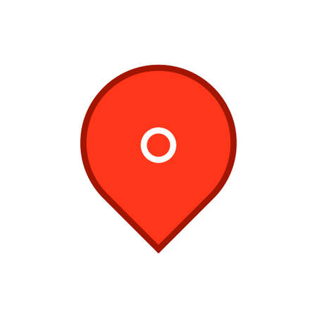 Location icon, map pin Archivio Fotografico - 126545852