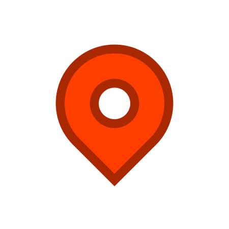 Location map icon, gps pointer mark Archivio Fotografico - 126545857