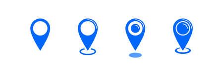 Location icon, map pin pointer, vector icon set Archivio Fotografico - 126545859