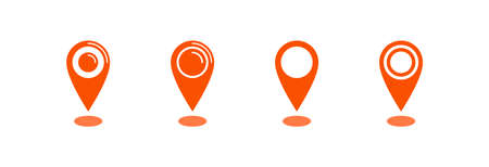 Map pointer icon, location pin vector symbol Archivio Fotografico - 126545860