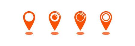 Map pointer icon, location pin vector symbol Archivio Fotografico - 126545869