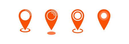 Map pointer icon, location pin vector symbol Archivio Fotografico - 126545870