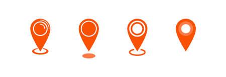 Map pointer icon, location pin vector symbol Archivio Fotografico - 126545876