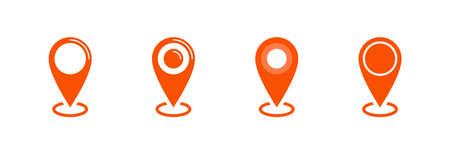 Location icon, map pin pointer, vector icon set Archivio Fotografico - 126545878