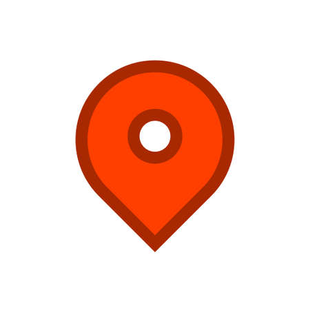 Location icon, map pin Archivio Fotografico - 126545891