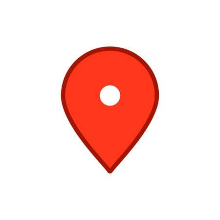 Location map icon, gps pointer mark Archivio Fotografico - 126545897