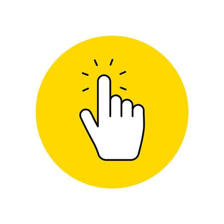 Hand click vector icon Ilustração
