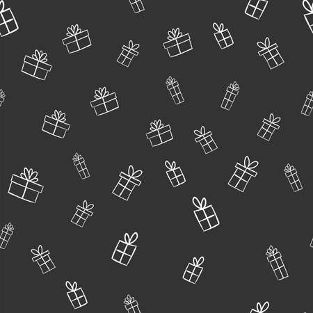 Christmas gifts seamless pattern. Doodle illustrations texture. Xmas presents.